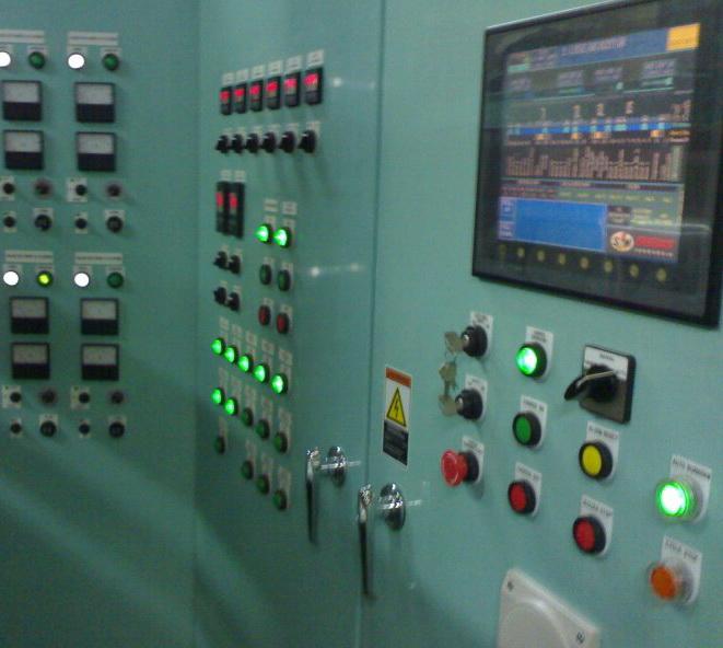 ระบบไฟฟ้าควมคุมเครื่องจักร PLC Touchscreen Automation 1 C.I.Engineering